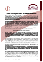 KSK - Artists' Social Insurance in Germany | Overview